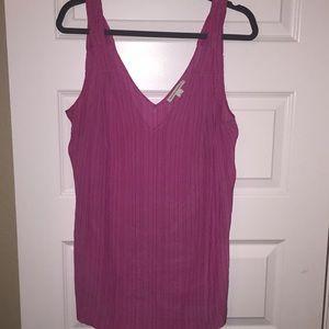 Banana Republic pink silk sleeveless blouse